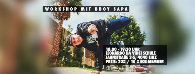 Breaking Workshop mit Bboy Sapa